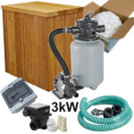 Electric heater 3kw set with box